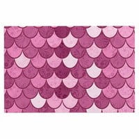 "Famenxt ""Pink Mermaid"" Pink Pattern Illustration Decorative Door Mat"