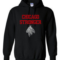 Chicago STRONGER Hoodie Great Chicago Blackhawks Fan Gift Stanley Cup Champs Unisex And Youth Sizes Chicago Stronger