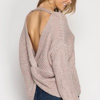 ROSIE TWIST BACK SWEATER