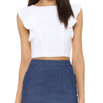 Flutter Sleeve Crop by Kendall + Kylie