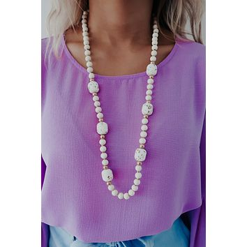 Looking For You Necklace: Ivory/Multi