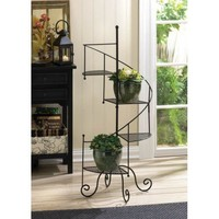 Black Metal Staircase Plant Stand