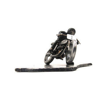 Flat Out Harley Flat Tracker Metal Sculpture