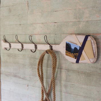 Wooden Oar Coat Rack