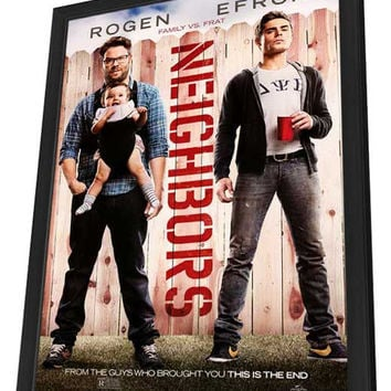 Neighbors 11x17 Framed Movie Poster (2014)