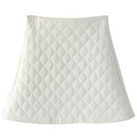 White Padded Quilting A-line Skirt
