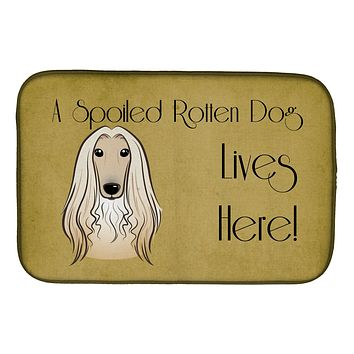 Afghan Hound Spoiled Dog Lives Here Dish Drying Mat BB1492DDM