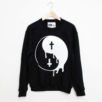 Crew Sweater // Melting Yin Yang XL