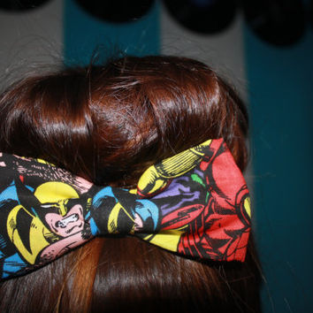 Marvel Wolverine Comic Superhero Hair Bow Clip