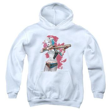 ac spbest Suicide Squad - Bat Aim Youth Pull Over Hoodie