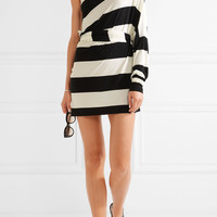 Norma Kamali - All in One striped stretch-jersey mini dress