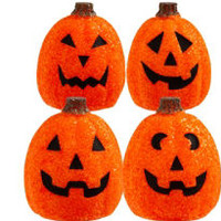 Light-Up Sparkle Pumpkin Decoration- Party City