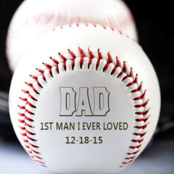 Personalized Custom Ring Bearer Baseball ~ Engraved Groomsmen Groom, Father od Bride & Groom ~ Best Man Gift, Wedding Keepsake