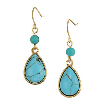 LAUREN Ralph Lauren Paradise Found Small Turquoise Drop Earrings
