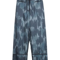 Acne Kat Silk Twill Trousers - Wide Leg Pants - ShopBAZAAR