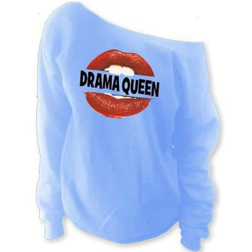 Drama Queen Off-The-Shoulder Oversized Slouchy Sweatshirt