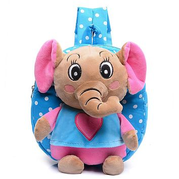 Kid cartoon elephant backpack kids kindergarten cute schoolbag baby girl children school bags mochila escolar gift good quality