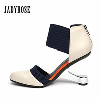 Jady Rose 2017 Fashion Black Pointed Toe Women Pumps Zip Wedding Dress Shoes Woman High Heels Valentine Shoes Stiletto Pumps