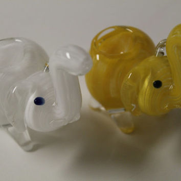 Hand Blown Beautiful Glass Elephant Pipes in various colors
