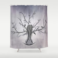 The Dreamy Tree Shower Curtain by LouJah | Society6