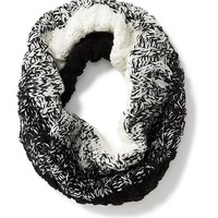 Old Navy Marled Knit Funnel Scarf Size One Size - White/black