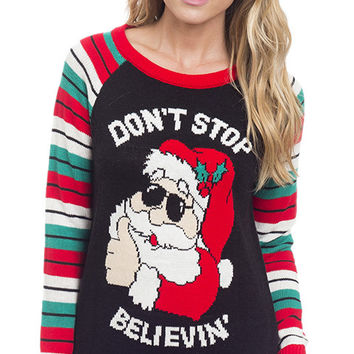 Don't Stop Believin' Ugly Christmas Sweater
