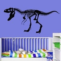 Vinyl Wall Decal Sticker Bedroom skeleton dino dinosaurs kids nursery bones r1576