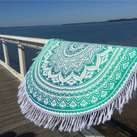 Cover Up Hippie Bohemian Boho Tassel Mat Beach Towel 2016 Summer Pareo