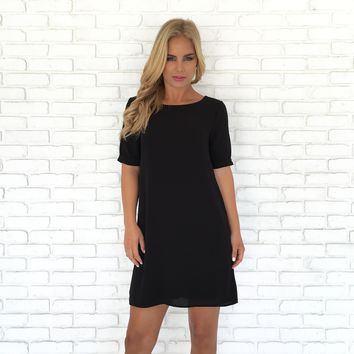 Take The Lead Shift Dress In Black