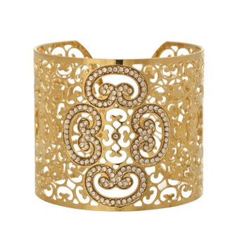 Elegant Golden Statement Cuff by LK Designs