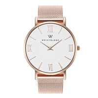 WRISTOLOGY Stella Womens Roman Rose Gold Boyfriend Watch Metal Mesh Changeable Strap Band