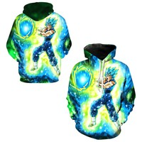 Vegito Final Kamehameha Print Hoodies Skateboarding Sweatshirt Jumper Pullover Dragon Ball Z Goku Super Saiyan Men Hooded Hoody