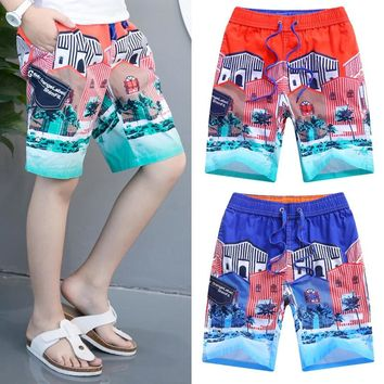 Children Board Shorts Boy Trousers Sports 11 Style Color Summer Teenager Clothing For Kids Beach Shorts 2-16T Print Boys Pants