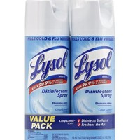 Lysol Disinfectant Spray, Crisp Linen Scent, Twin Pack, 2 x 12.5 Ounce - Walmart.com