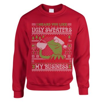 Kermit The Frog Ugly Christmas Sweater