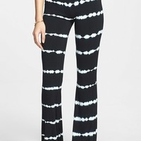 Volcom 'Skippin Town' Patterned Flare Pants (Juniors)