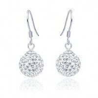 Fashion 925 Sterling Silver/ Rhinestone With Platinum Plated Earrings (0801-HT458) - $30.02