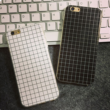 Grid iPhone 5s 6 6s Plus creative case Lover Gift-75