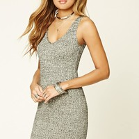 Metallic Marled Knit Dress