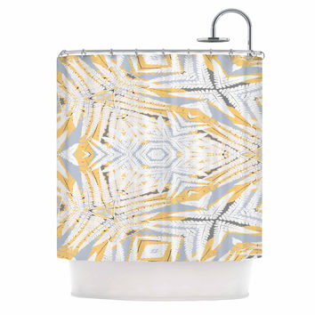 "Alison Coxon ""Planthouse Saffron"" Yellow Gray Shower Curtain"