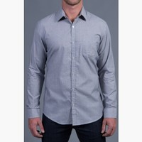 {Modern English} Chambray Dress Shirt in Sterling Grey