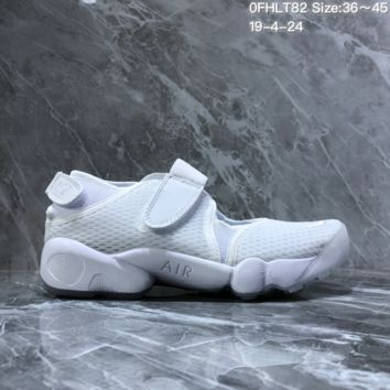 HCXX N1507 Nike mesh gaiters with split toes hipster sports sandals casual gym shoes white