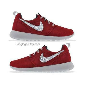 Nike Roshe Run With Swarovski Crysral Rhinestones - Bling Nikes, Bling Shoes, Blinged