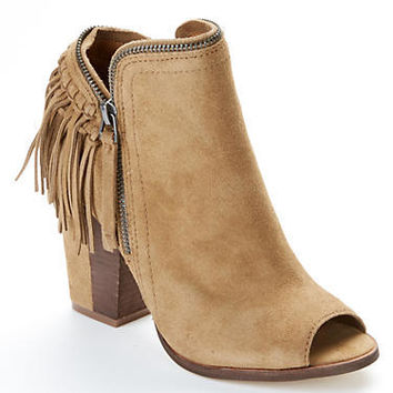 DV by Dolce Vita Suede Fringe Booties Shoes PROMISE at BareNecessities.com
