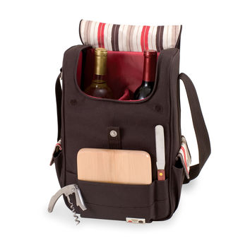 Dlx 2 Bottle Wine &Cheese Tote - Volare