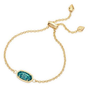 Kendra Scott Elaina London Blue Gold Adjustable Bolo Bracelet