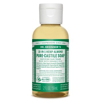 Almond Pure-Castile Liquid Soap - 2 oz. - Dr. Bronner's