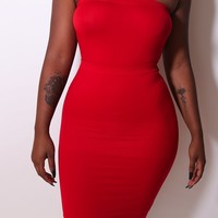 The Fire Red Double Trouble (skirt/tube dress)