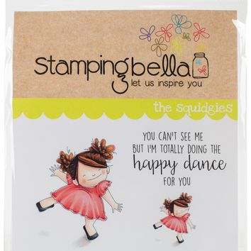Stamping Bella Cling Stamps-Happy Dance Squidgy