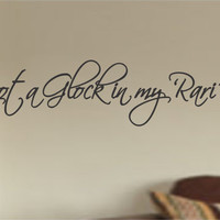 I Got A Glock in My Rari Cursive Wall Decal Sticker Car Window Truck Decals Stickers